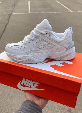 Полностью белые женские кроссовки nike m2k techno (37-41)😍