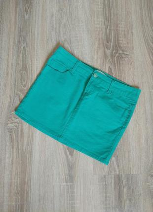 Джинсовая мини юбка от stradivarius