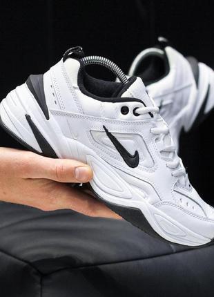Крутые мужские кожаные кроссовки nike m2k tekno white  😍 (весн...