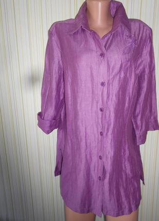 #шикарная льняная блуза р.40\42 #barbara lebek#германия оригин...