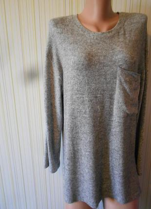 #свитшот оверсайз #bershka#меланжевый свитер # кофта#джемпер #