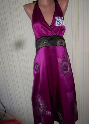 #роскошный наряд# роскошное платье 100% шелк#moonsoon#вечернее...