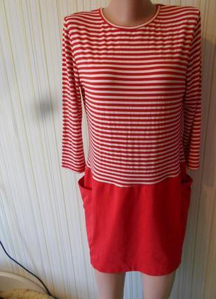 #брендовое платье #jm star#tu #италия #трикотажное в полоску #