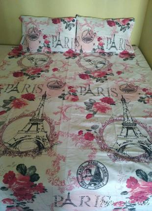 """Детское постельное белье """"Париж"""". Хлопок 100%. Полуторное"""