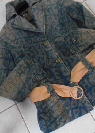 #крутая утепленная джинсовая куртка m\l #miss sixty#made in it...