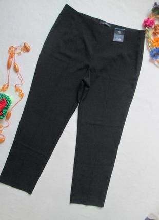 Классные классические чёрные брюки сбоку на молнии marks & spe...