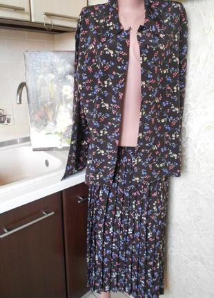 #dalia#винтажный костюм плиссе #большой размер 16 #шри ланка #
