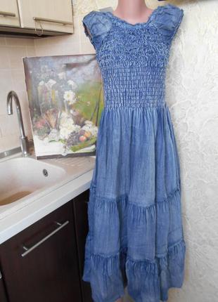 #распродажа!!!# супер платье# джинсовое платье# большой размер...