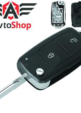 Выкидной ключ для Volkswagen Polo, Tiguan, Jetta, Golf, Beetle MK