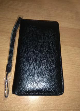 Мужской кошелек Kavis портмоне клатч из натуральной кожи