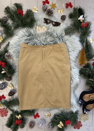 Прямая юбка мини с разрезом спереди №41max