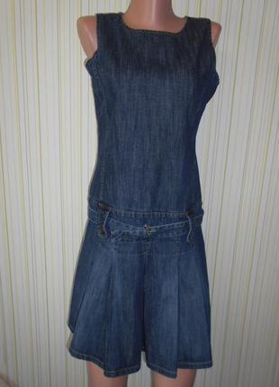 #распродажа!#крутое  фирменное джинсовое платье\сарафан#gap# s\xs