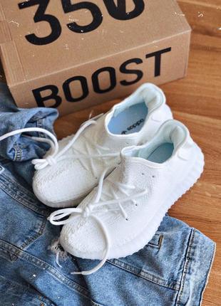 Мужские кроссовки adidas yeezy 350 white