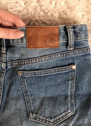 Шорты джинсовые высокая посадка от Zara