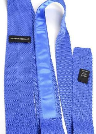 Галстук синий с квадратным концом Banana Republic 100% polyester