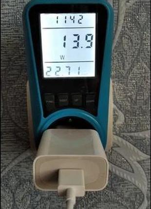 Ватметр, ваттметр, вимірювач потужності с подсветкой