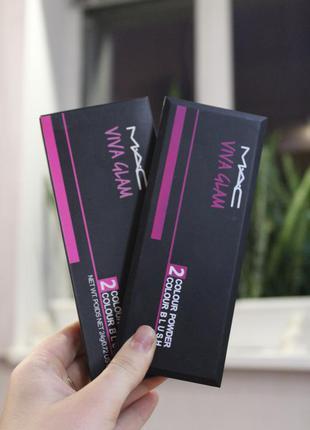 Палетка для макияжа -2 пудры + 2 румян- тон 02