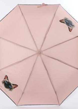 Зонт женский artrain кот, полуавтомат, 3 сложения.