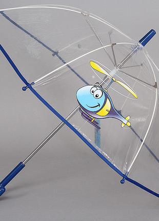 Зонтик трость детский прозрачный artrain 1511-1915 вертолет
