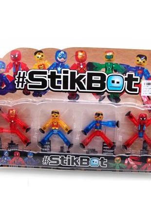 Фигурка для анимационного творчества набор супергероев Stikbot 4