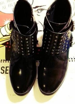Стильные лакированные ботинки от kookai демисезон осенние 40 р...
