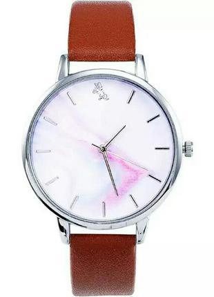Стильные женские наручные часы мраморный циферблат