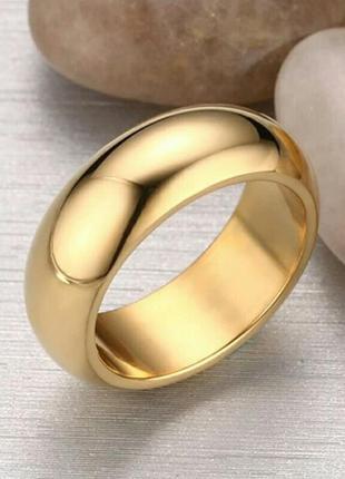 Классическое кольцо золотое покрытие нержавеющая сталь подарок...