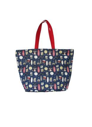 Женская сумка шале, для лета, пляжная, спортивная, с весёлым п...