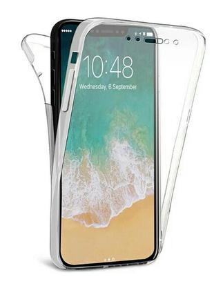 Двойной комбинированный прозрачный чехол для iphone xs 5.8
