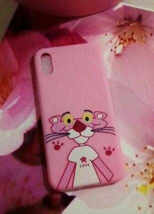 Матовый силиконовый чехол для  iphone 8+ , iphone х с розовой ...