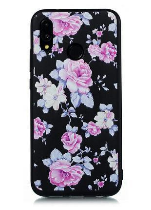 Красивый силиконовый чехол на xiaomi redmi 6 pro цветочный принт