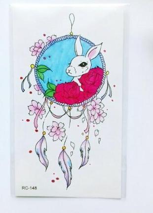 Временные тату-стикеры кролик ловец снов флеш-тату переводные ...