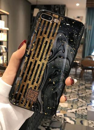 Роскошный чехол для iphone 6, 6s с золотыми вкраплениями в сти...