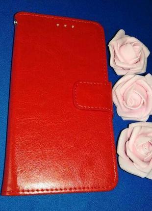 Чехол-книжка бумажник на айфон 11 iphone 11 красный