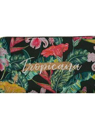Кошелек тропический гавайский стиль с пальмовыми листьями и цв...