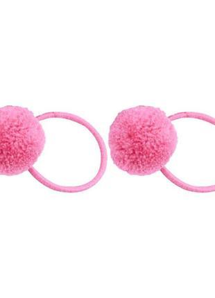 Эластичная резинка для волос плюшевый шарик помпон комплект 2 ...