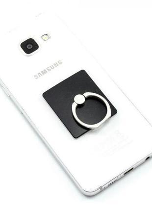 Подставка-кольцо держатель попсокет для телефона, планшета чер...