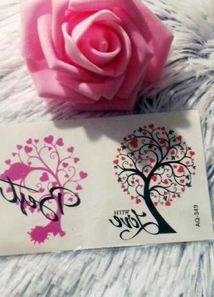 Временные тату-стикеры дерево любви флеш-тату переводные водон...