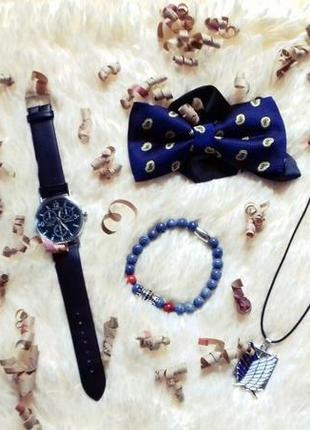 Подарочный набор готовый подарок парню мужчине часы, браслет, ...