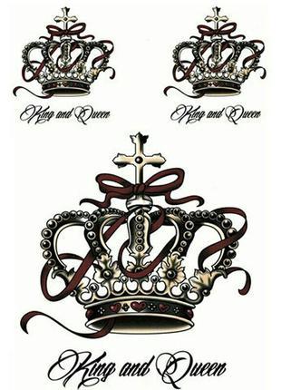 Временные тату-стикеры короны флеш-тату переводные водонепрони...