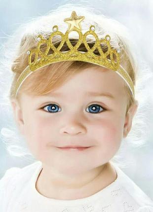Корона принцессы для девочки аксессуар для волос ободок диадем...