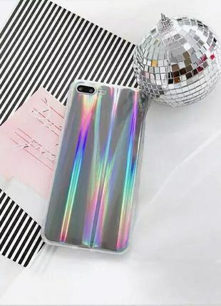 Зеркальный голографический лазерный чехол на iphone 7plus айфо...