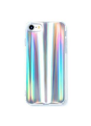 Зеркальный голографический лазерный чехол на iphone 6 айфон 6