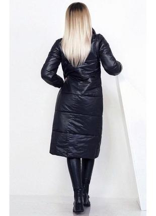 Пальто чорне на флісі з капюшоном pull&bear
