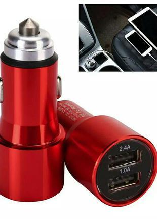 Универсальное автомобильное зарядное устройство USB на 2 выхода