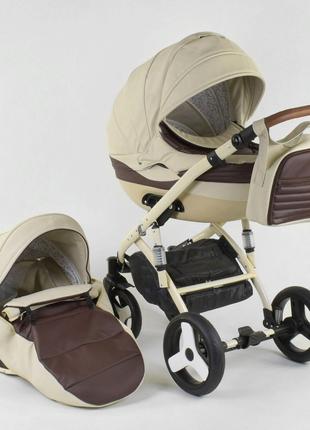 Универсальная детская коляска 2 в 1 Lumi №0205 D-59 эко кожа