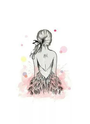 Картина плакат для декора стен печать на холсте живопись девушка
