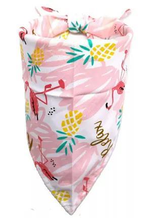 Нагрудник бандана шарф косынка для собак щенков тропический принт