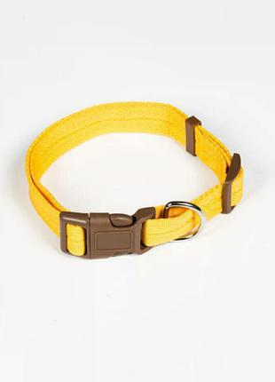 Ошейник для животных жёлтого цвета, размер L