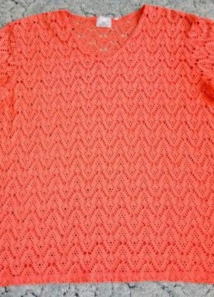 Блуза ажурная большого размера